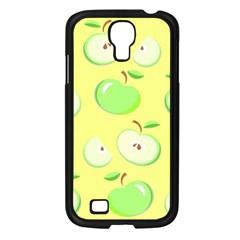 Apples Apple Pattern Vector Green Samsung Galaxy S4 I9500/ I9505 Case (black) by Nexatart