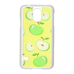 Apples Apple Pattern Vector Green Samsung Galaxy S5 Case (white) by Nexatart