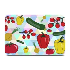 Vegetables Cucumber Tomato Plate Mats by Nexatart