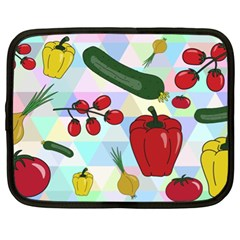 Vegetables Cucumber Tomato Netbook Case (XL)