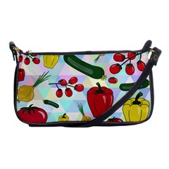 Vegetables Cucumber Tomato Shoulder Clutch Bags by Nexatart