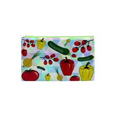 Vegetables Cucumber Tomato Cosmetic Bag (xs) by Nexatart