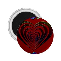 Red Heart Colorful Love Shape 2 25  Magnets