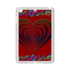 Red Heart Colorful Love Shape iPad Mini 2 Enamel Coated Cases by Nexatart
