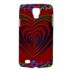 Red Heart Colorful Love Shape Galaxy S4 Active by Nexatart