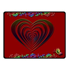 Red Heart Colorful Love Shape Double Sided Fleece Blanket (small)  by Nexatart
