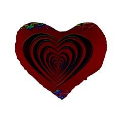 Red Heart Colorful Love Shape Standard 16  Premium Flano Heart Shape Cushions by Nexatart