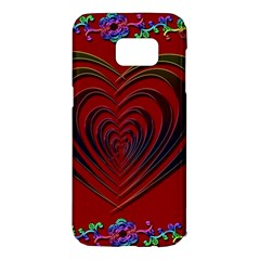Red Heart Colorful Love Shape Samsung Galaxy S7 Edge Hardshell Case