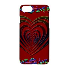 Red Heart Colorful Love Shape Apple Iphone 7 Hardshell Case by Nexatart