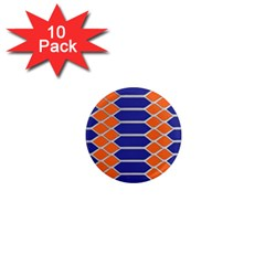 Pattern Design Modern Backdrop 1  Mini Magnet (10 Pack)  by Nexatart