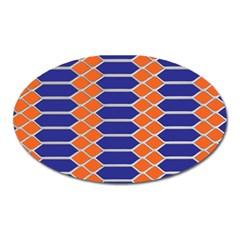 Pattern Design Modern Backdrop Oval Magnet by Nexatart