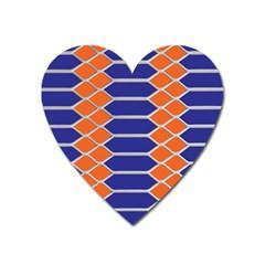 Pattern Design Modern Backdrop Heart Magnet by Nexatart