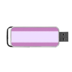 Purple Modern Portable Usb Flash (two Sides) by Nexatart