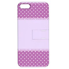 Purple Modern Apple Iphone 5 Hardshell Case With Stand by Nexatart