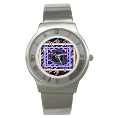 Abstract Sphere Room 3d Design Stainless Steel Watch by Nexatart