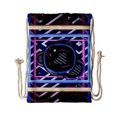 Abstract Sphere Room 3d Design Drawstring Bag (small) by Nexatart