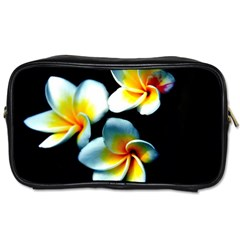 Flowers Black White Bunch Floral Toiletries Bags by Nexatart