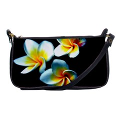 Flowers Black White Bunch Floral Shoulder Clutch Bags by Nexatart