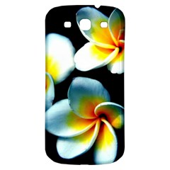 Flowers Black White Bunch Floral Samsung Galaxy S3 S Iii Classic Hardshell Back Case by Nexatart