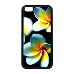 Flowers Black White Bunch Floral Apple Iphone 5c Seamless Case (black) by Nexatart