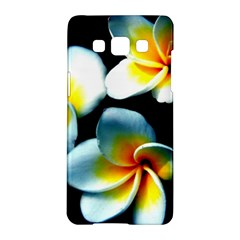 Flowers Black White Bunch Floral Samsung Galaxy A5 Hardshell Case  by Nexatart