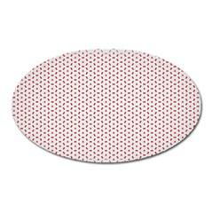 Motif Pattern Decor Backround Oval Magnet by Nexatart