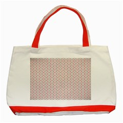 Motif Pattern Decor Backround Classic Tote Bag (red) by Nexatart