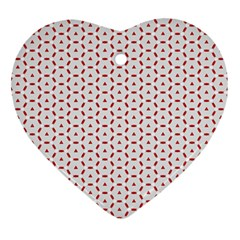 Motif Pattern Decor Backround Heart Ornament (two Sides) by Nexatart