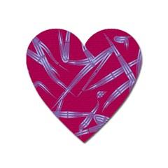 Background Vector Texture Pattern Heart Magnet by Nexatart