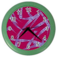 Background Vector Texture Pattern Color Wall Clocks by Nexatart