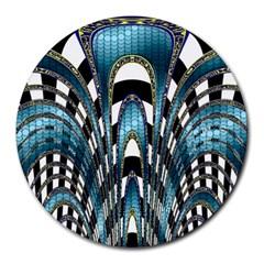 Abstract Art Design Texture Round Mousepads by Nexatart