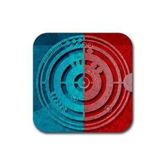 Vector Watch Texture Red Blue Rubber Square Coaster (4 Pack)  by Nexatart