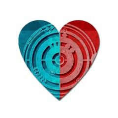 Vector Watch Texture Red Blue Heart Magnet by Nexatart