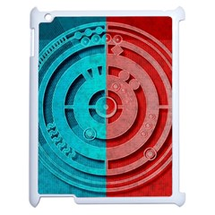 Vector Watch Texture Red Blue Apple Ipad 2 Case (white) by Nexatart