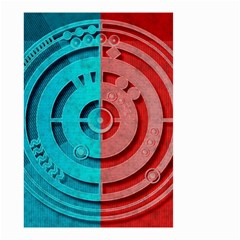 Vector Watch Texture Red Blue Small Garden Flag (two Sides) by Nexatart