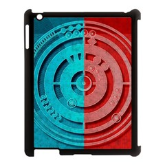 Vector Watch Texture Red Blue Apple Ipad 3/4 Case (black) by Nexatart