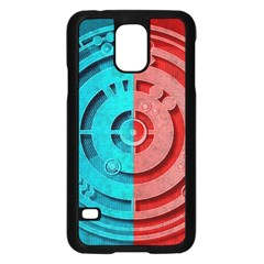 Vector Watch Texture Red Blue Samsung Galaxy S5 Case (black) by Nexatart