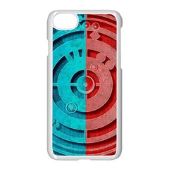 Vector Watch Texture Red Blue Apple Iphone 7 Seamless Case (white) by Nexatart
