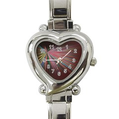Pattern Flower Background Wallpaper Heart Italian Charm Watch by Nexatart