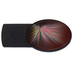 Pattern Flower Background Wallpaper Usb Flash Drive Oval (4 Gb) by Nexatart