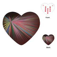 Pattern Flower Background Wallpaper Playing Cards (heart)  by Nexatart