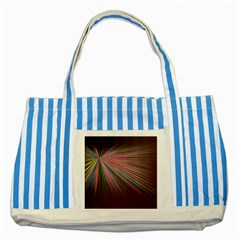 Pattern Flower Background Wallpaper Striped Blue Tote Bag by Nexatart