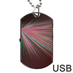 Pattern Flower Background Wallpaper Dog Tag Usb Flash (two Sides) by Nexatart