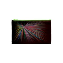 Pattern Flower Background Wallpaper Cosmetic Bag (xs) by Nexatart