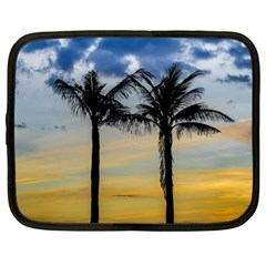 Palm Trees Against Sunset Sky Netbook Case (xl)  by dflcprints
