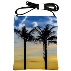 Palm Trees Against Sunset Sky Shoulder Sling Bags by dflcprints