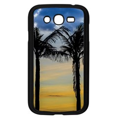Palm Trees Against Sunset Sky Samsung Galaxy Grand Duos I9082 Case (black) by dflcprints