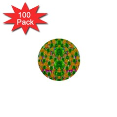 Jungle Love In Fantasy Landscape Of Freedom Peace 1  Mini Buttons (100 Pack)  by pepitasart