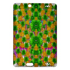 Jungle Love In Fantasy Landscape Of Freedom Peace Amazon Kindle Fire Hd (2013) Hardshell Case by pepitasart