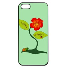 Plant And Flower Apple Iphone 5 Seamless Case (black) by linceazul